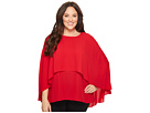 Vince Camuto Specialty Size Plus Size Cape Overlay Blouse