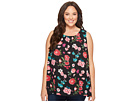 Vince Camuto Specialty Size Plus Size Sleeveless Floral Heirlooms Blouse