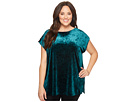 Vince Camuto Specialty Size Plus Size Extend Shoulder Crushed Velvet Top