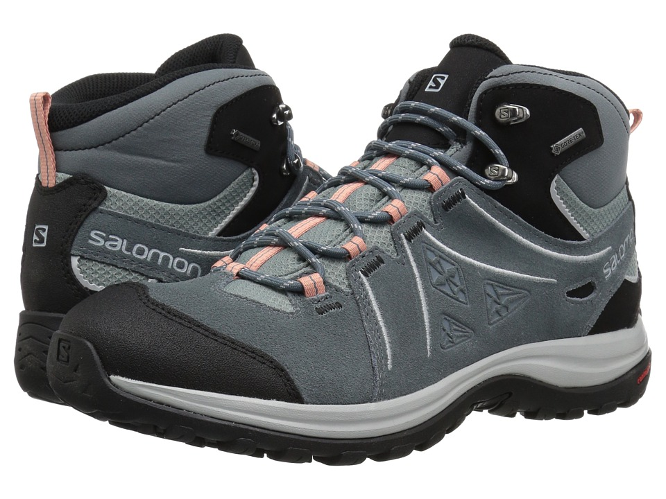 Salomon - Ellipse 2 Mid LTR GTX(r) (Lead/Stormy Weather/Coral Almond) Womens Shoes