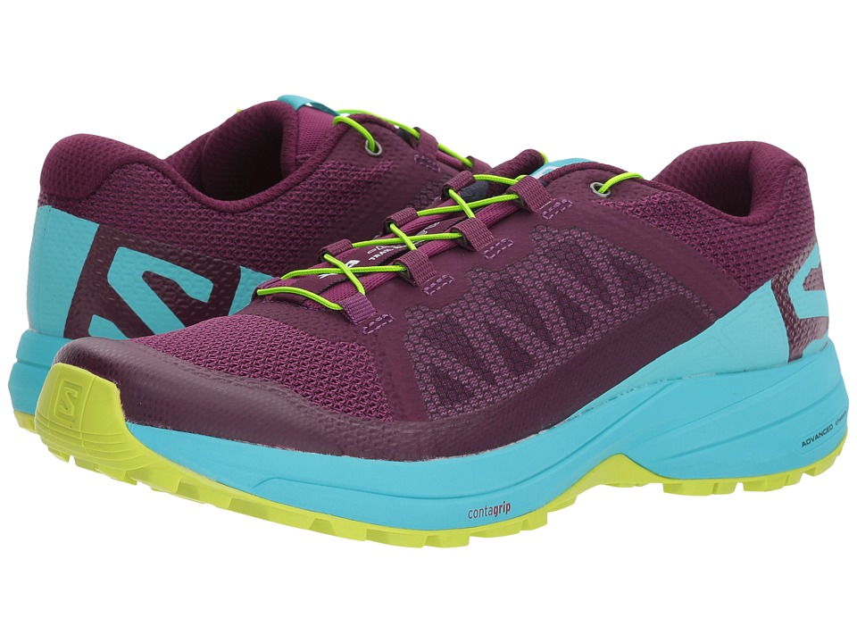 Salomon XA Elevate (Dark Purple/Blue Curacao/Acid Lime) Women's Shoes