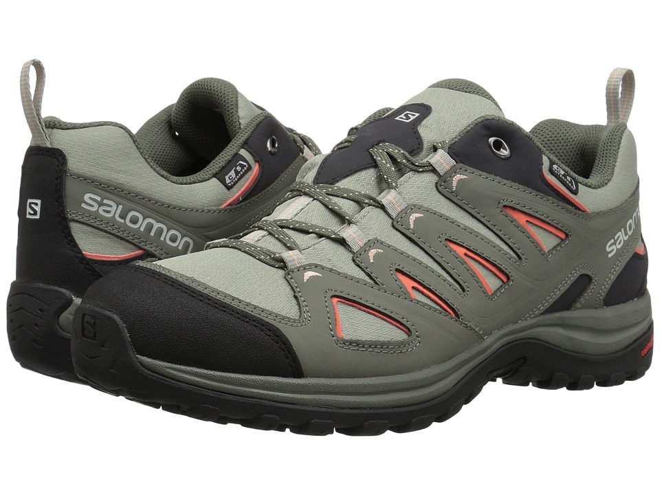 Salomon Ellipse 3 CS WP USA (Shadow/Castor Gray/Living Coral) Women's Shoes