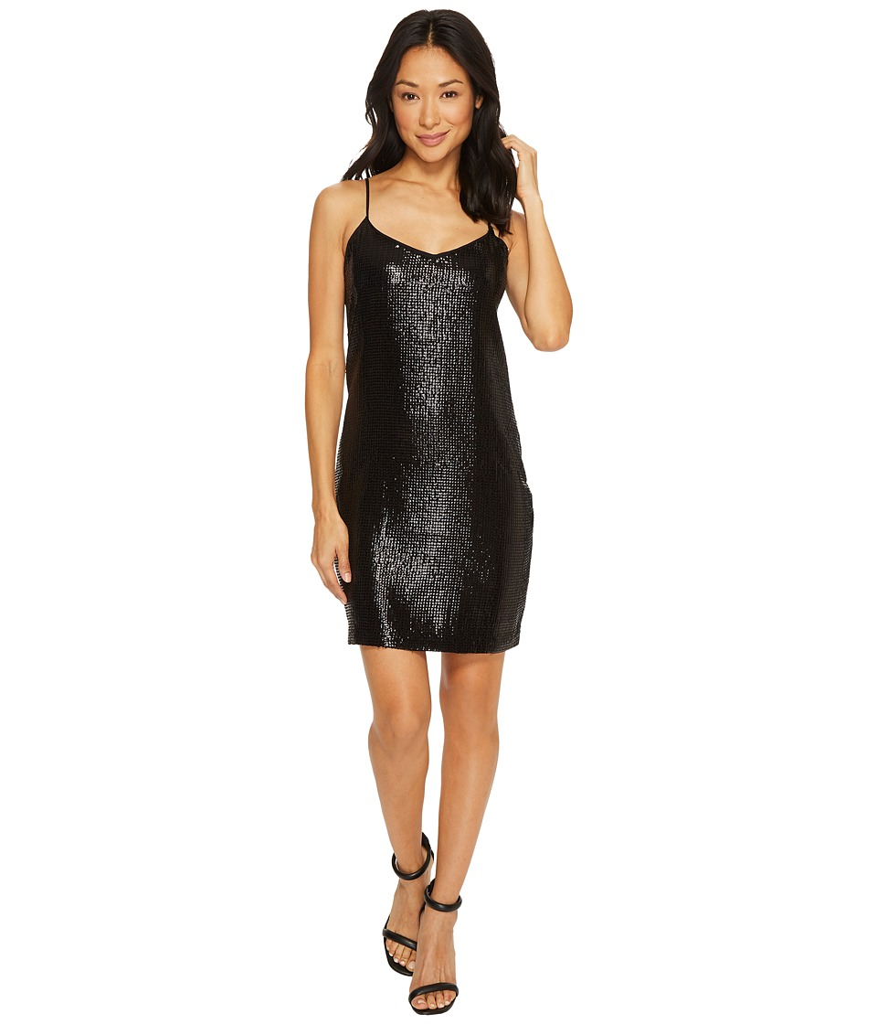 Vince Camuto All Over Sequin Cami Dress (Rich Black) Women