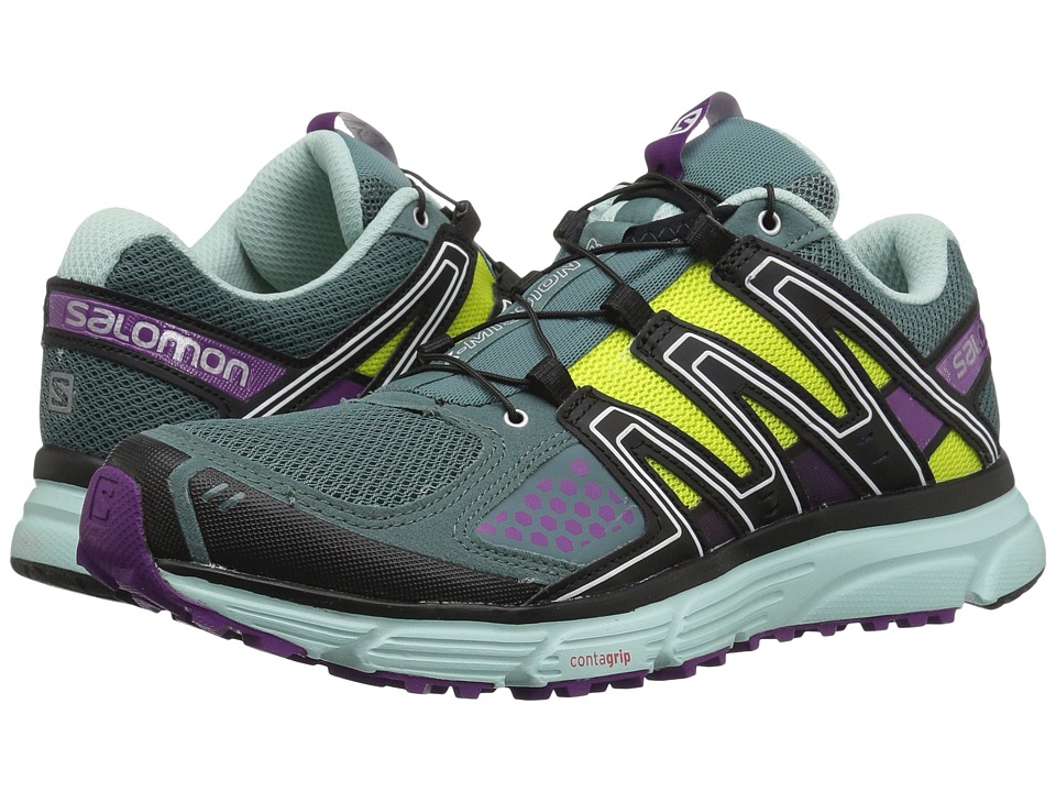 Salomon - X-Mission 3 (North Atlantic/Eggshell Blue/Grape Juice 1) Womens Shoes