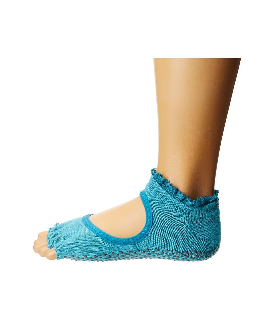 toesox - Bella Half Toe w/ Grip 1-Pair Pack (Sea Lace) Womens Low Cut Socks Shoes