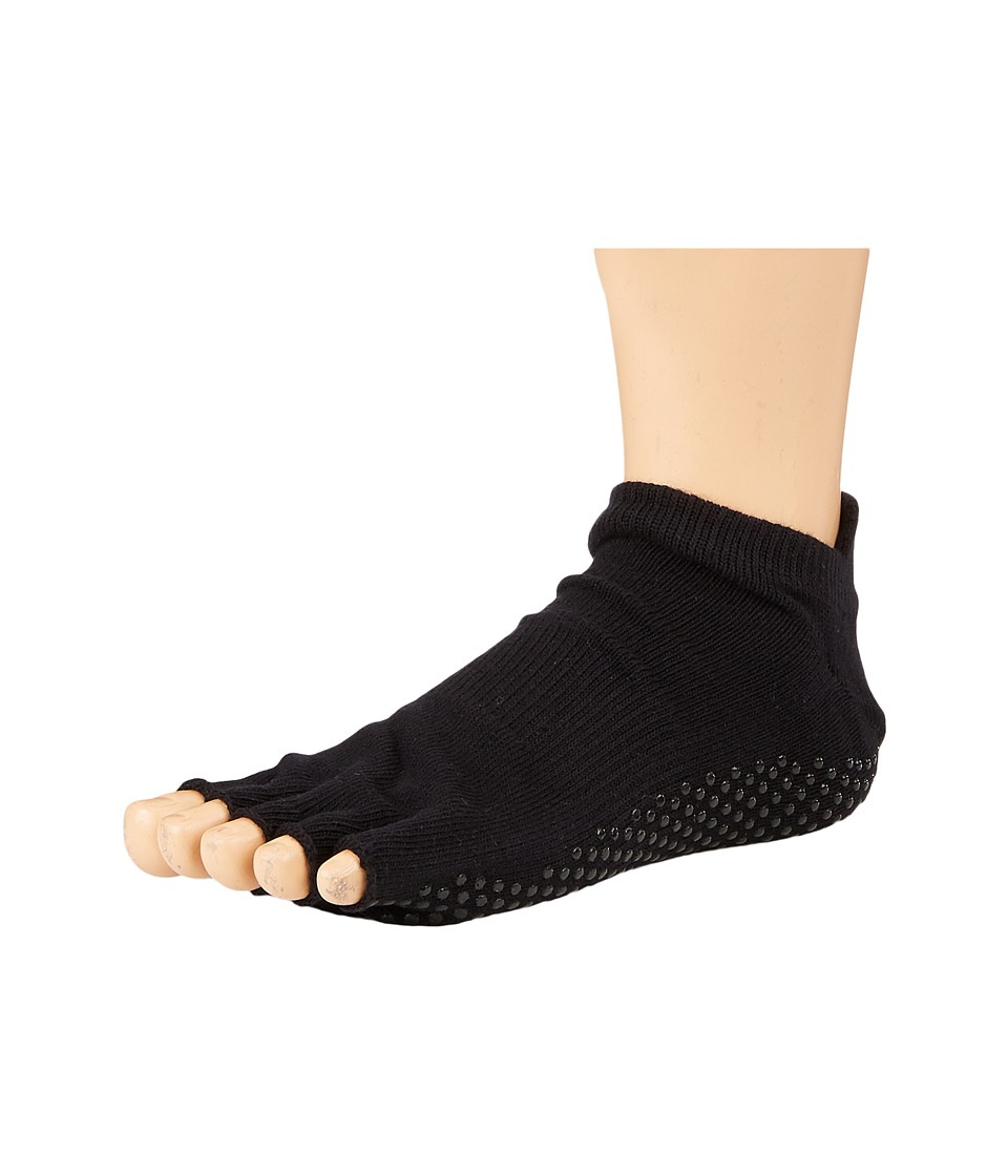 toesox - Grip Half Toe Low Rise (Black 1) Womens Low Cut Socks Shoes