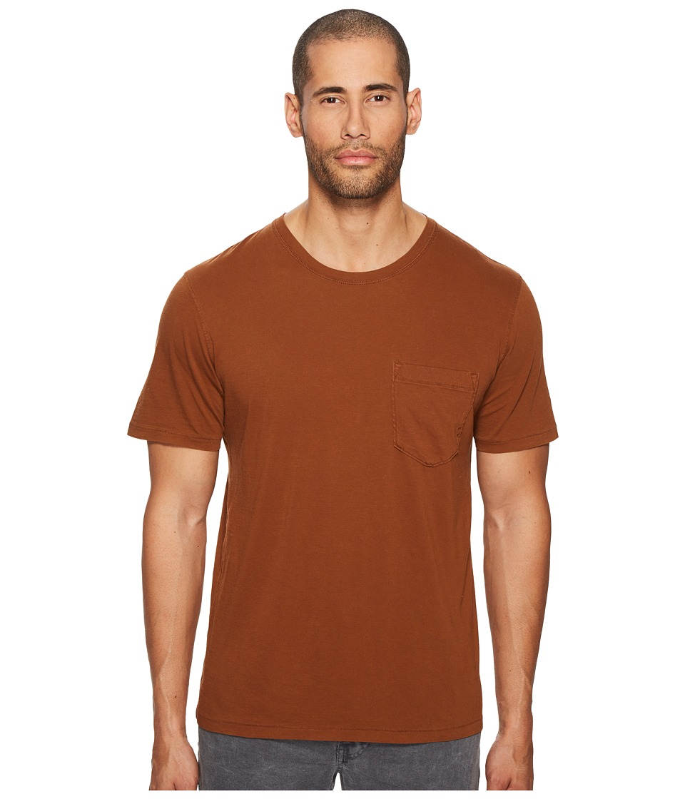 Image of Billy Reid - Washed Tee (Caramel) Men's T Shirt