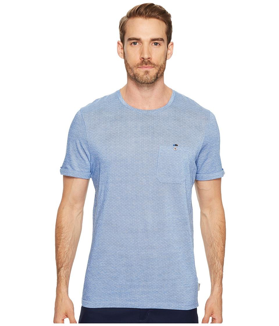 Ted Baker - Vue Pique Tee (Blue) Men's Clothing
