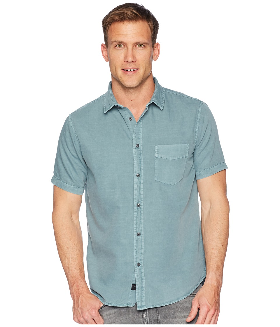 Globe - Goodstock Vintage Short Sleeve Shirt (Breeze Green) Mens Short Sleeve Button Up