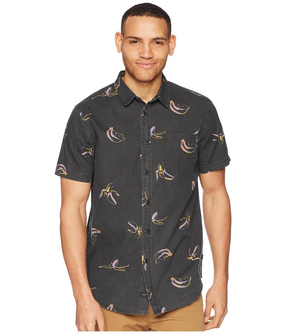 Globe - Split Short Sleeve Shirt (Vintage Black) Mens T Shirt