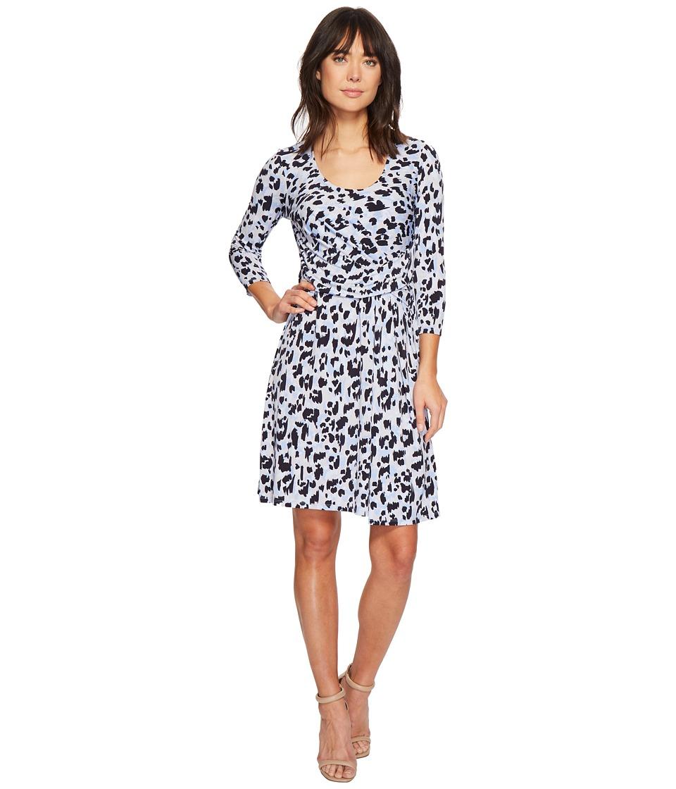 Ellen Tracy - Elbow Sleeve Side Twist Dress (Leopard Expression) Womens Dress