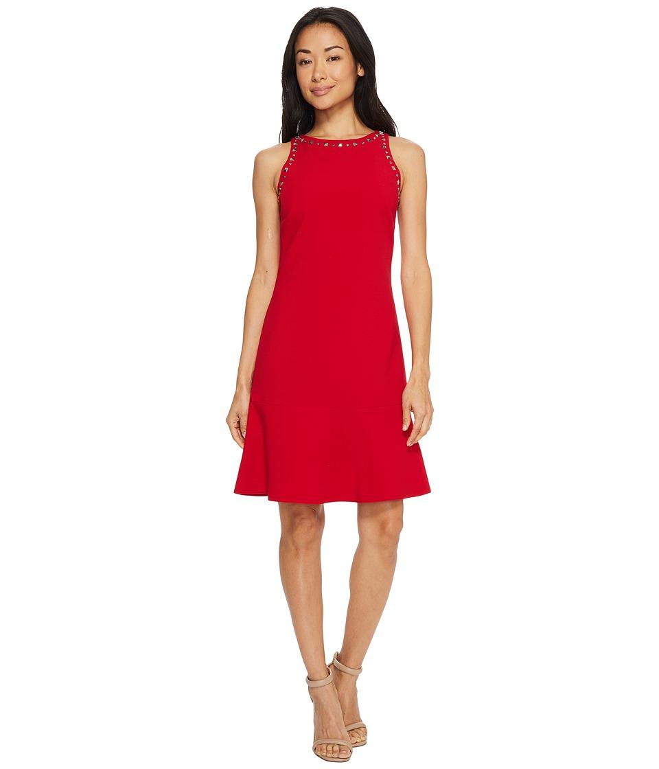 Ellen Tracy - Sleeveless Flounce Hem Dress