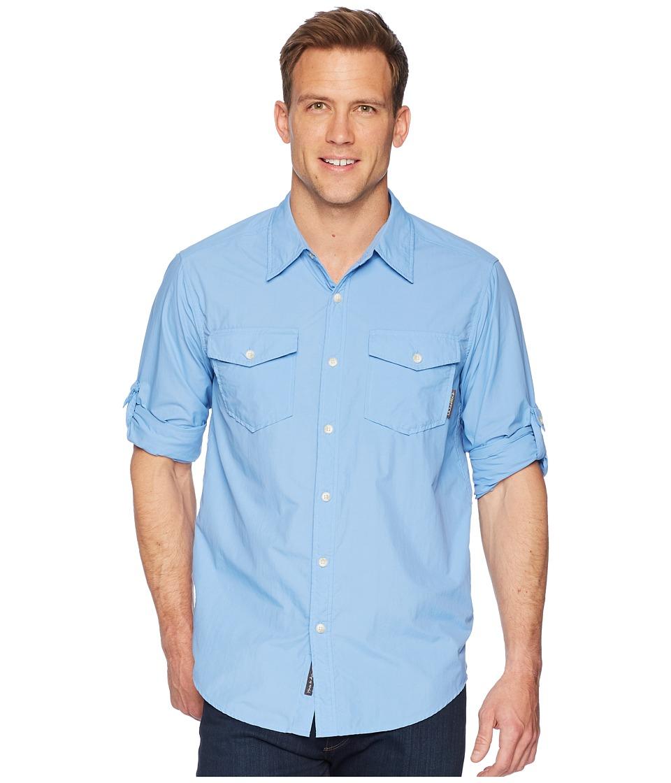 ExOfficio - BugsAway(r) Chios Long Sleeve Shirt (Silverlake) Mens Long Sleeve Button Up