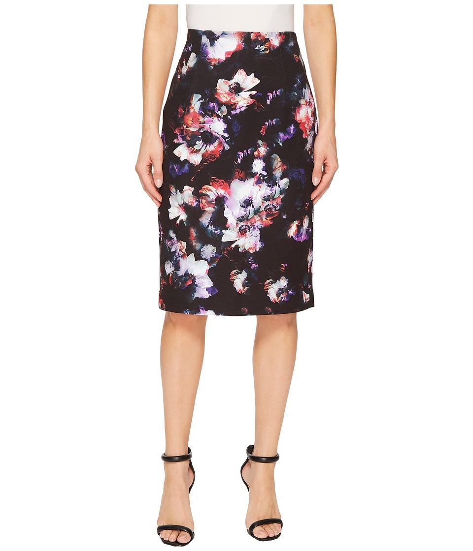 Ellen Tracy - High Waist Pencil Skirt (Radiant Blossom) Womens Skirt
