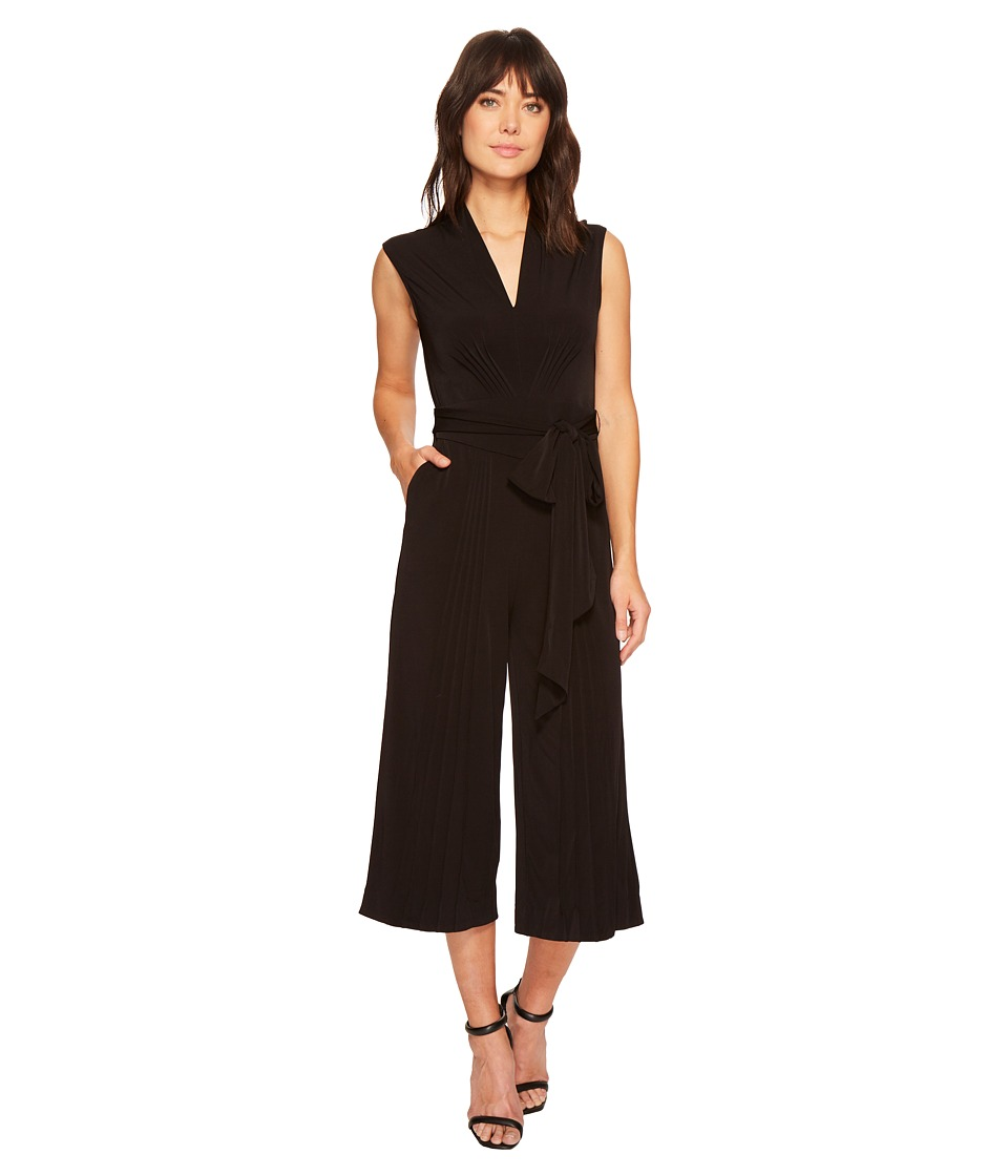 CATHERINE Catherine Malandrino - Sleeveless Pin Tuck Jumpsuit (Black Beauty) Womens Jumpsuit & Rompers One Piece