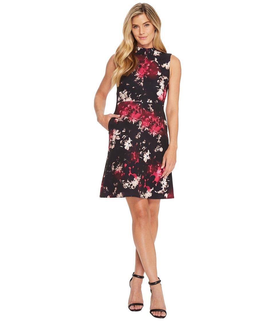 Ellen Tracy - Seamed Mock Neck Dress (Bouquet Multi) Womens Dress