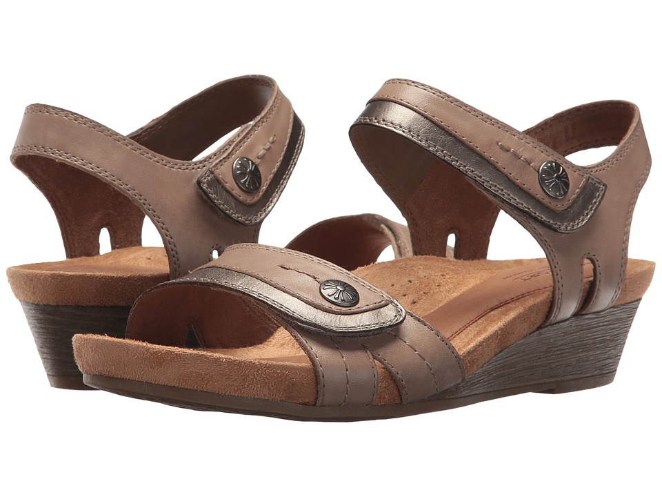 Rockport Cobb Hill Collection - Cobb Hill Hollywood Two-Piece Sandal (Khaki Leather) Women's Sandals