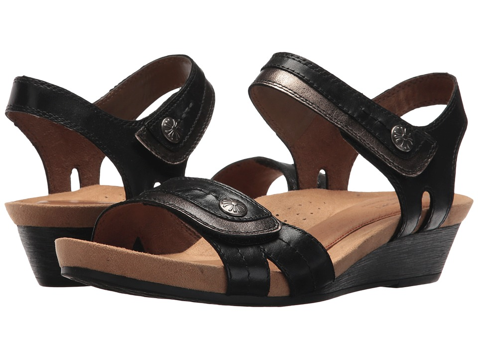Rockport Cobb Hill Collection Cobb Hill Hollywood Two-Piece Sandal (Black Leather) Sandals