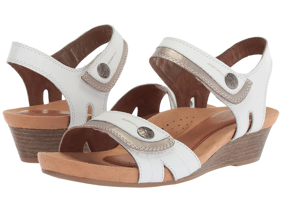 Rockport Cobb Hill Collection Cobb Hill Hollywood Two-Piece Sandal (White Leather) Sandals