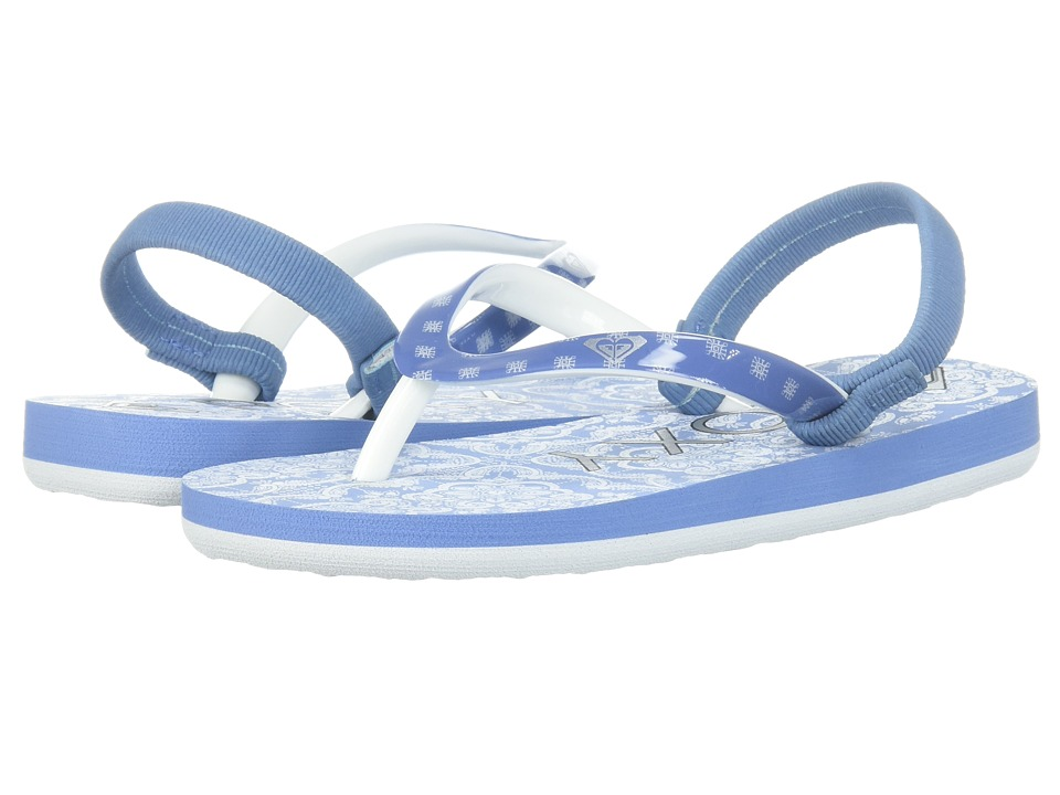 Roxy Kids - Pebbles VI (Toddler) (Blue/White) Girls Shoes