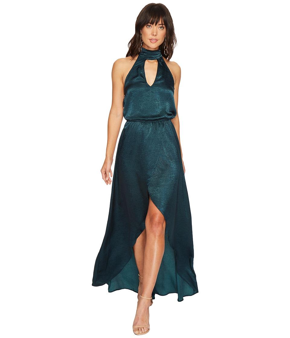 Show Me Your Mumu Karolina Collar Dress (Dark Forest Silky Satin) Women