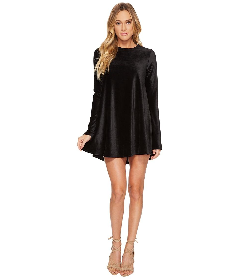 Show Me Your Mumu Tyler Tunic Dress (Stretch Corduroy Velvet Black) Women