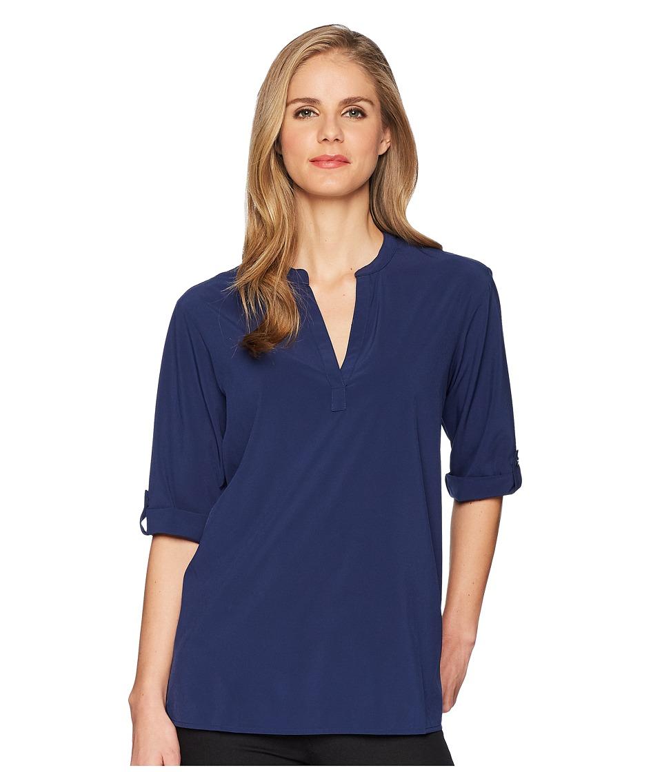 ExOfficio - Kizmettm 3/4 Sleeve Top (Ink) Womens Short Sleeve Pullover