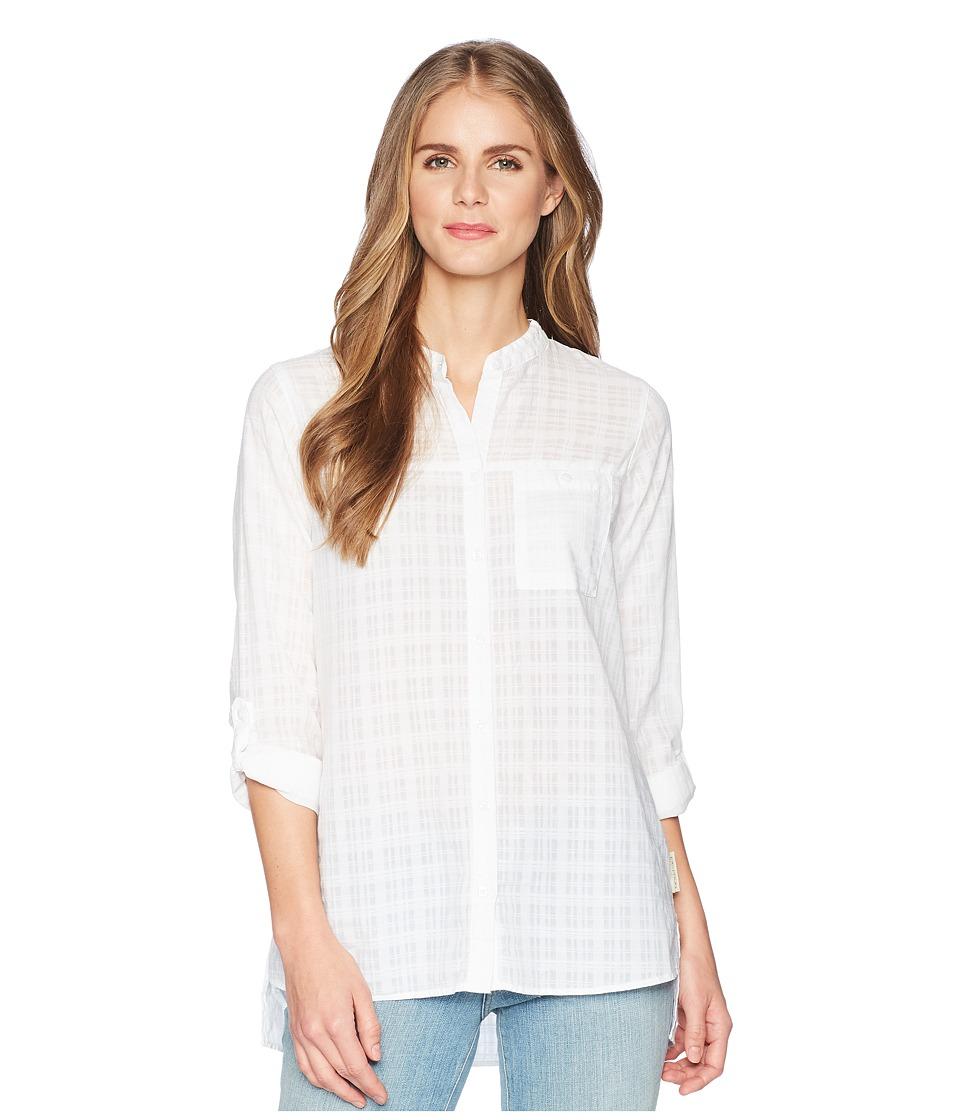 ExOfficio - BugsAway(r) Collette Long Sleeve Shirt (White) Womens Long Sleeve Button Up