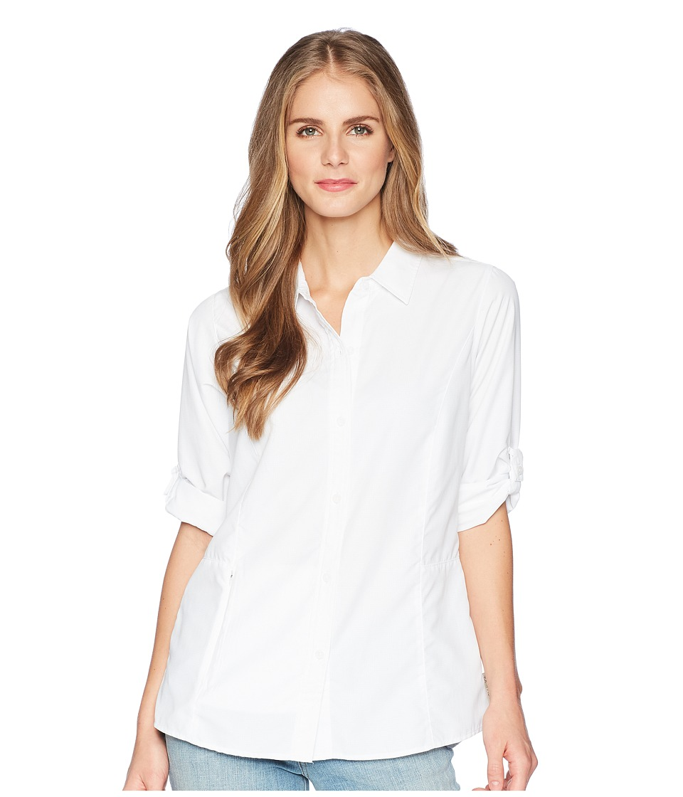 ExOfficio - BugsAway(r) Brisa Long Sleeve Top (White) Womens Long Sleeve Button Up