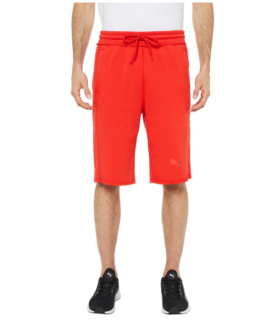 PUMA - 12 Sweat Bermuda (Flame Scarlet) Mens Shorts