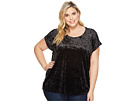 B Collection by Bobeau Plus Size Kinsey Mixed Tee