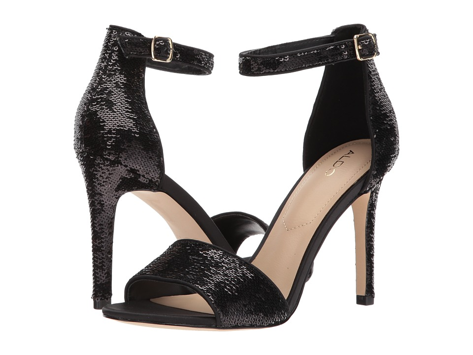 ALDO - Fiolla (Black Satin) Women's Sandals