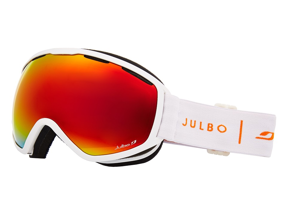 Julbo Eyewear Atlas (White/Orange with Spectron 3 Color Flash Lens) Snow Goggles