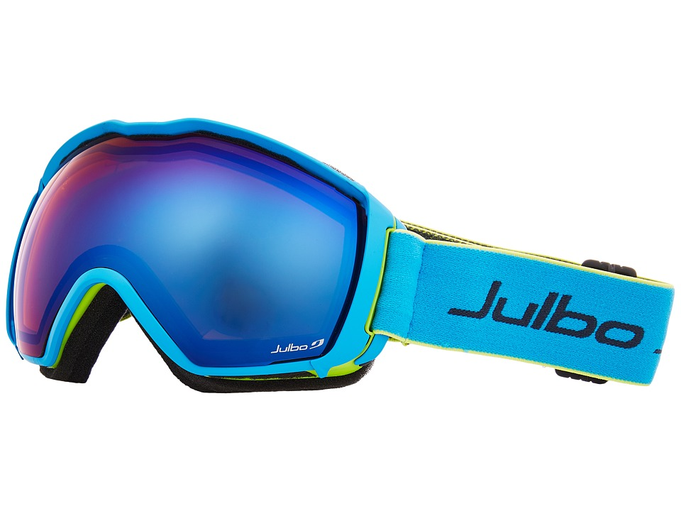 Image of Julbo Eyewear - Airflux (Green/Blue with Spectron 2 Color Flash Lens) Snow Goggles