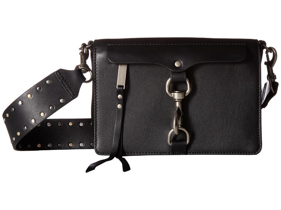Rebecca Minkoff - Large Mab Flap Crossbody w/ Flat Stud Gs (Black) Cross Body Handbags