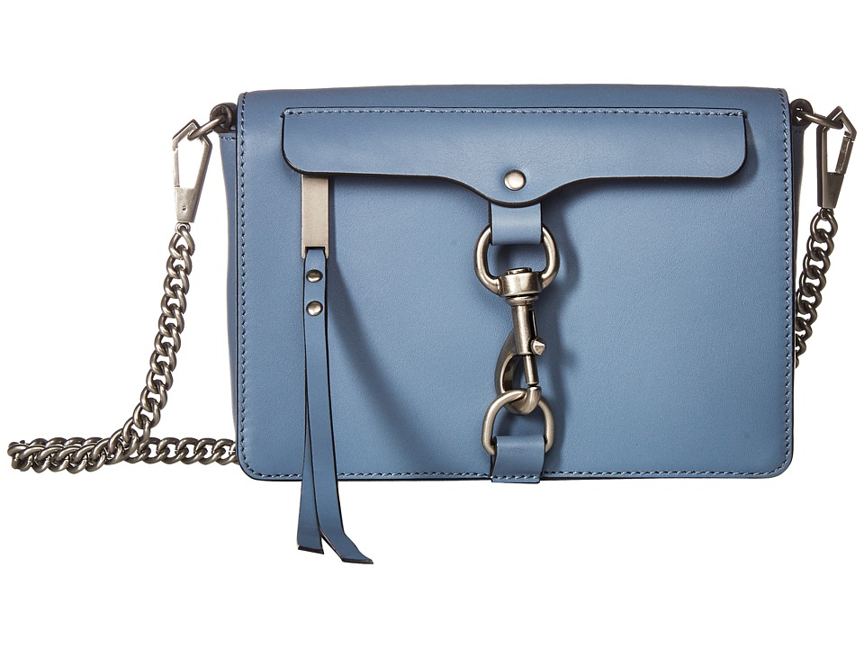 Rebecca Minkoff - Large Mab Flap Crossbody (Dusty Blue) Cross Body Handbags