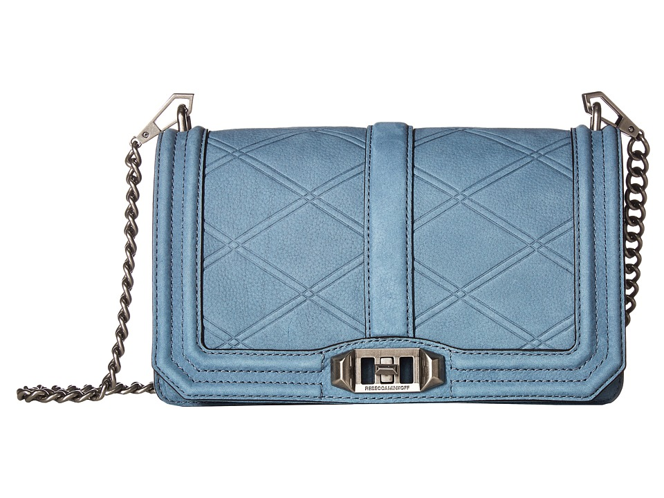 Rebecca Minkoff - Love Crossbody (Dusty Blue) Cross Body Handbags