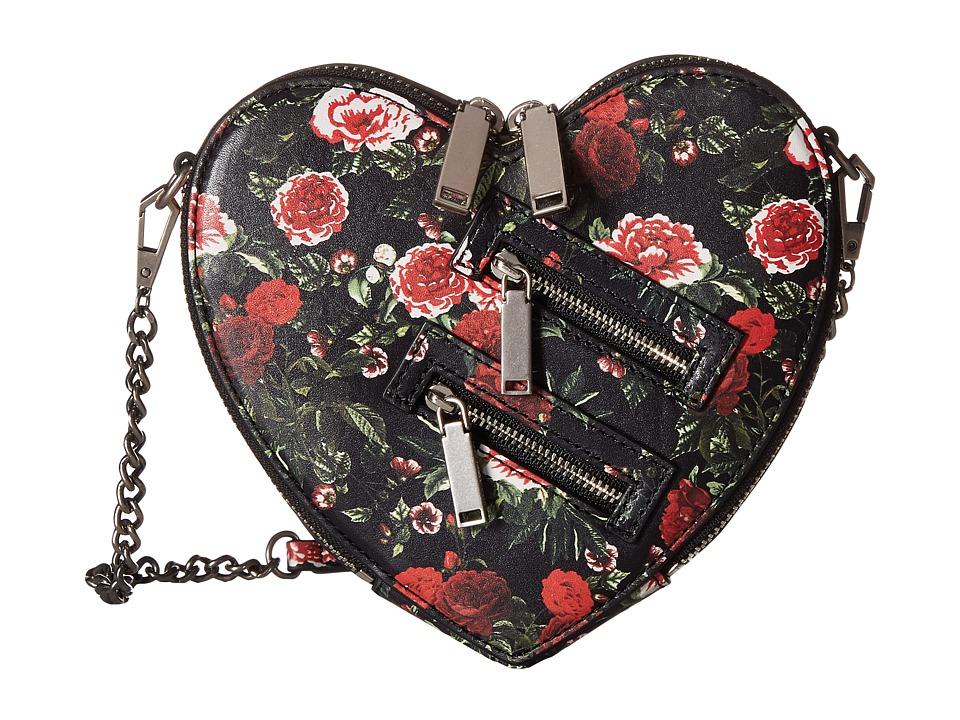 Rebecca Minkoff - Jamie Heart Crossbody (Rose Floral) Cross Body Handbags