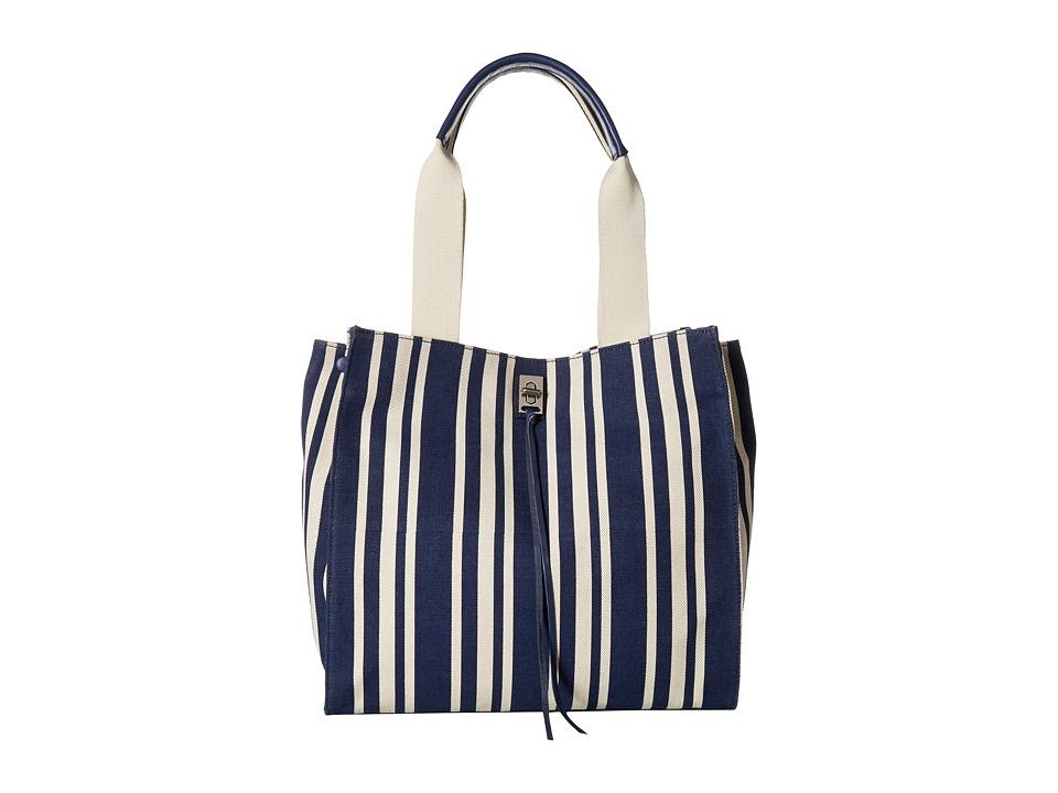 Rebecca Minkoff - Darren Tote (Navy Stripe) Tote Handbags