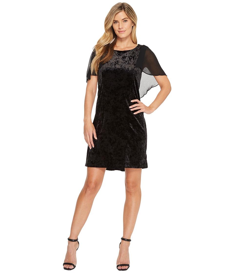 B Collection by Bobeau - Pery Velvet Cape Dress