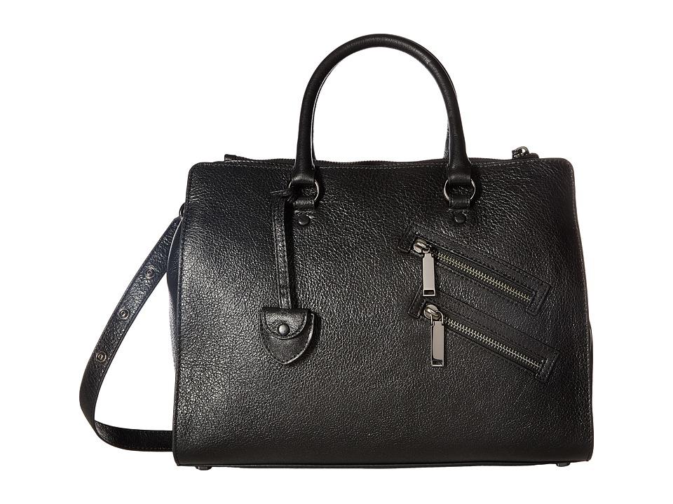 Rebecca Minkoff - Large Jamie Satchel (Black) Satchel Handbags