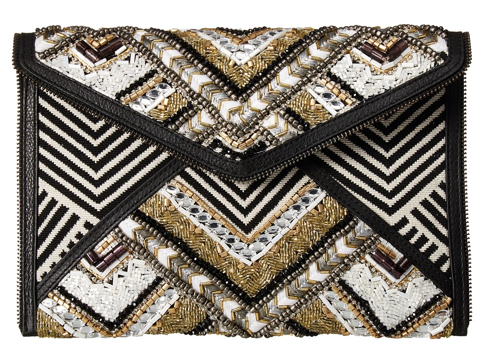 Rebecca Minkoff Wonder Leo Clutch (Black Metallic Multi) Clutch Handbags
