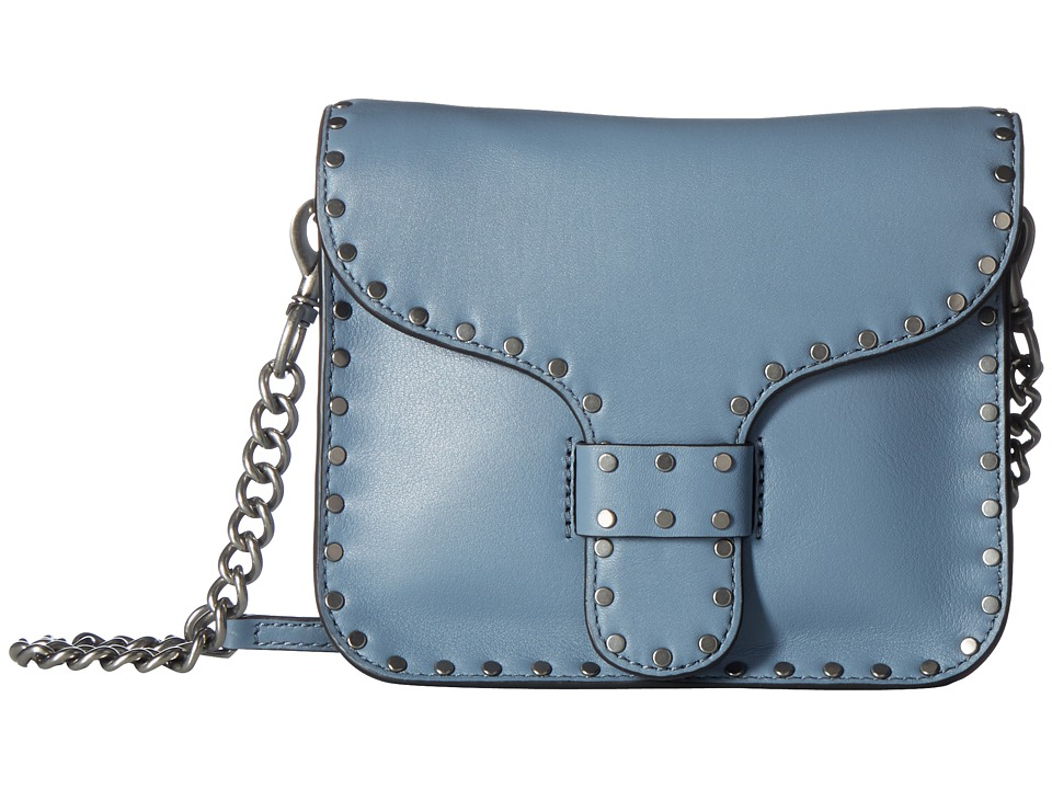 Rebecca Minkoff - Midnighter Mini Messenger (Dusty Blue) Handbags