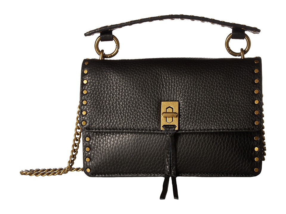 Rebecca Minkoff - Darren Top-Handle Flap Crossbody (Black) Handbags