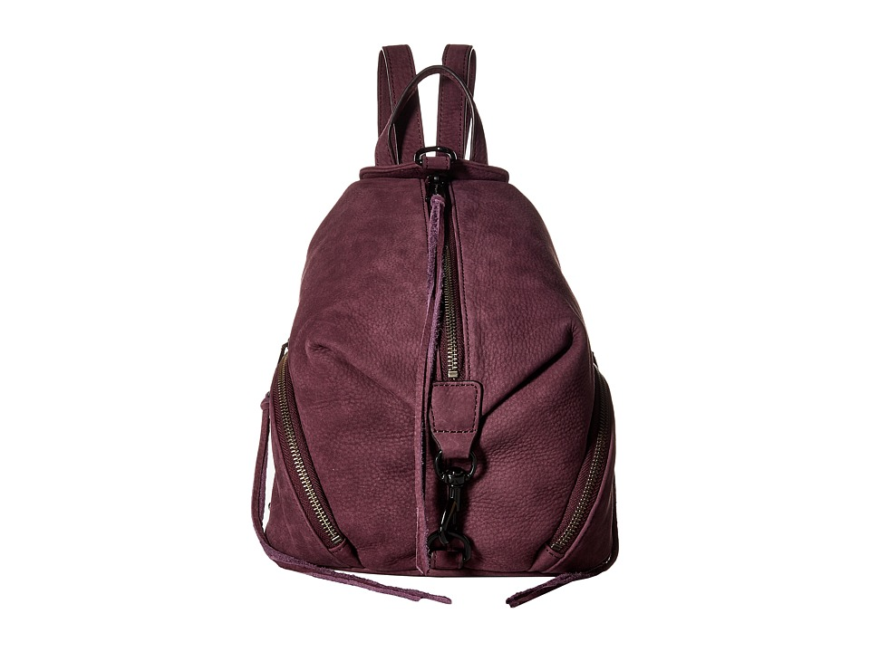 Rebecca Minkoff - Medium Julian Backpack (Dark Cherry 1) Backpack Bags