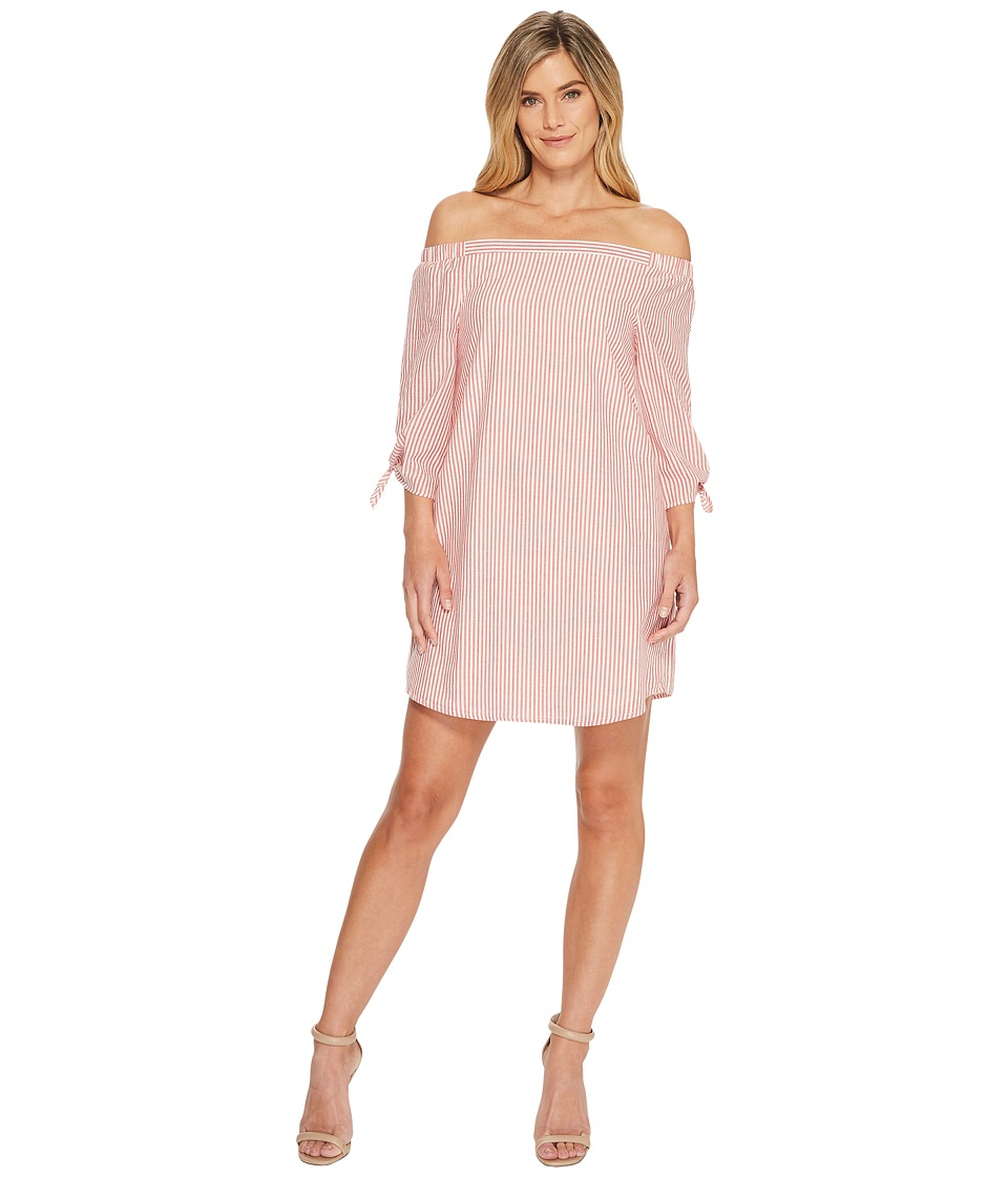 B Collection by Bobeau - Susie Off Shoulder Dress (Red St...