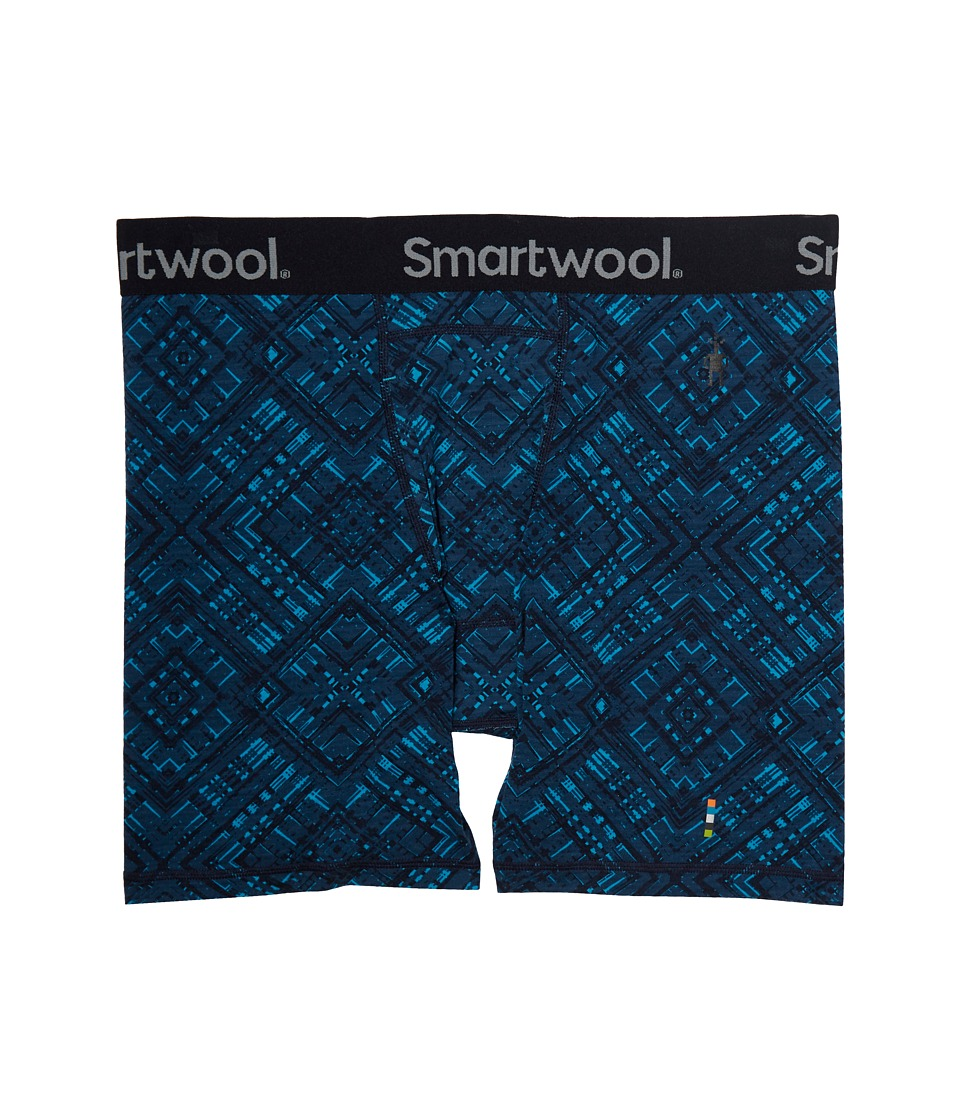 Smartwool Merino 150 Printed Boxer Brief (Deep Navy) Men