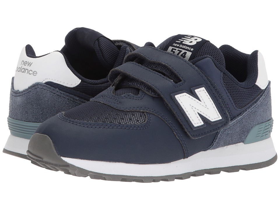 New Balance Kids - YV574v1 (Little Kid/Big Kid) (Blue/Grey 1) Boys Shoes