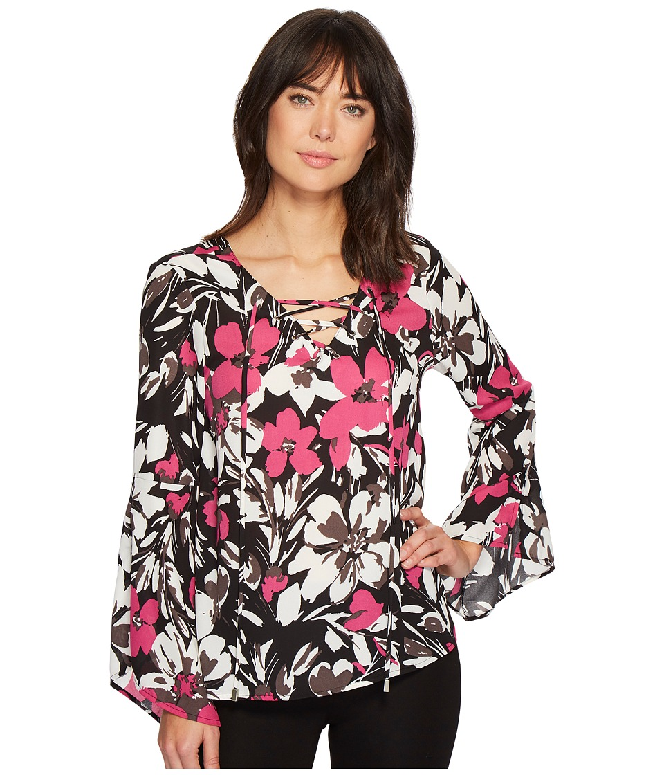 B Collection by Bobeau - Dawn Flare Sleeve Blouse
