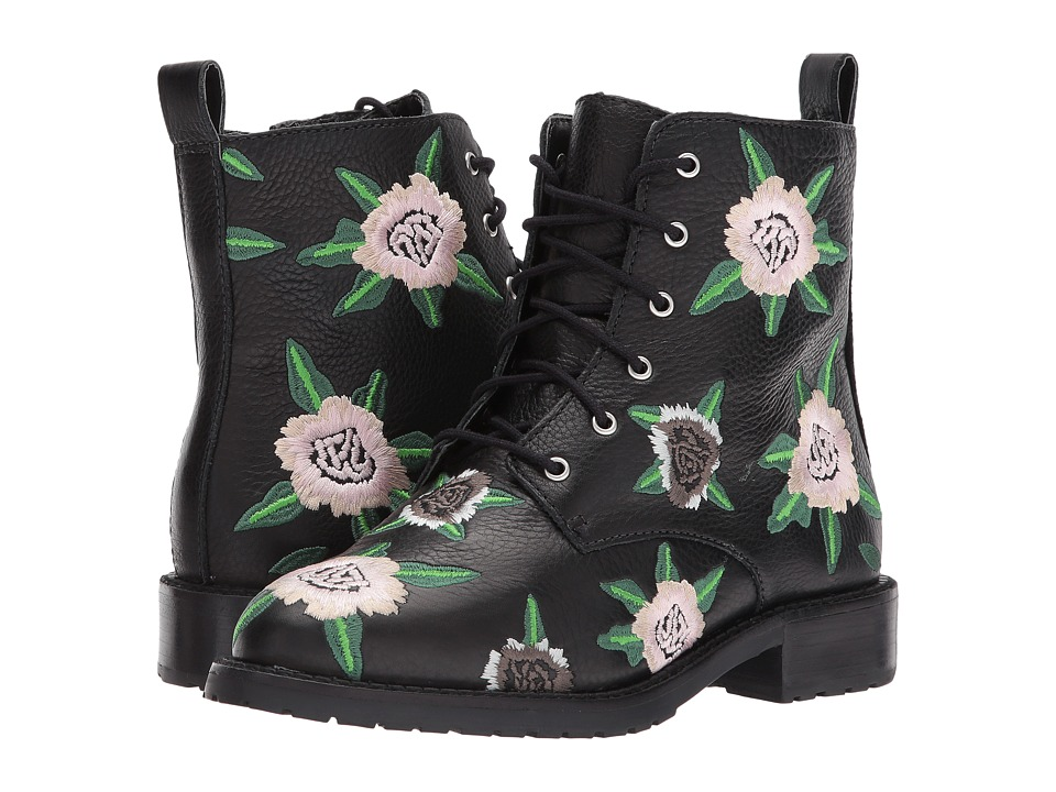 Rebecca Minkoff - Gerry Embroidery (FloralBlack EmbroideryLamba) Womens Lace-up Boots